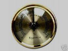 "Analog 1 3/4"" Hygrometer Gold Color Frame Hygrometer & 2""x 3"" Humidifier Set#1"