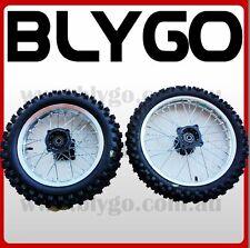 "SV 12mm 14"" Front 12"" inch Rear Back Wheel Rim +Tyre Tire PITPRO Trail Dirt Bike"