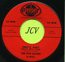THE FIVE SATINS Pretty Baby / Our Anniversary    R&B-SOUL 45 RPM  RECORD