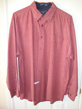 Mens Haggar dress shirt size XL Red