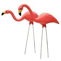 "2 Pack 27"" Pink Flamingos Plastic Yard Garden Lawn Art Ornaments Retro FREE SHIP"