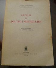 (PRL) ANTIQUE BOOK RARO 1958 LIBRO ANTICO LEZIONI DI DIRITTO FALLIMENTARE LIVRE