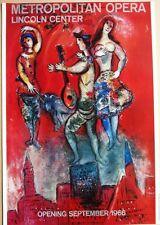 Marc Chagall-Metropolitian Opera, Lincon Center 1966 Poster art moderne