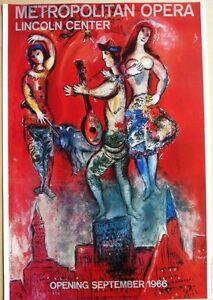 Marc Chagall -Metropolitian Opera, Lincoln Center 1966 Poster Modern Surreal Art