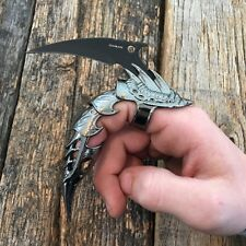 DRAGON CLAW Ring Finger FANTASY KNIFE Combat Blade Iron Reaver Armor NEW -S