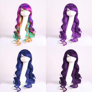 Long Wigs Women Kids Girls Descendants 2 Mal Evie Cosplay Fancy Dress Costume