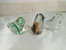 More details for a fine trio of glass bird paperweights , murano ,wedgwood....etc ?