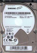 ST2000LM003 HN-M201RAD/BPS F/W: 2BC10001 Samsung 2TB Momentus