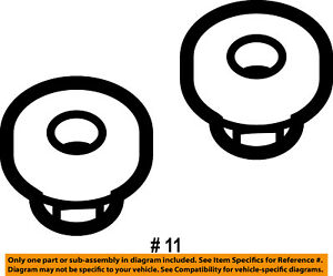 FORD OEM Front Suspension-Upper Control Arm Nut W520215S441