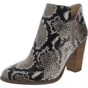 Vince Camuto Womens Famhida Leather Slip On Heel Ankle Boots Shoes BHFO 1945