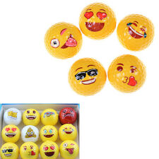 Emoji Novelty Practice Golf Balls Toy Kids Gifts for Outdoor Field PlayingBlhk
