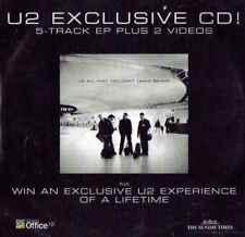 U2: EXCLUSIVE CD - 5 TRACK EP + 2 VIDEOS – PROMO CD (2001) STUDIO & LIVE TRACKS
