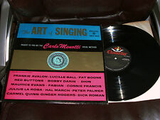 THE ART OF SINGING - Taught by CARLO MENOTTI Method 2LPs NM Chancellor 1961 RARE