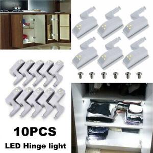 10X LED Smart Sensor Light Kitchen Closet Cabinet Cupboard Wardrobe Hinge Lights