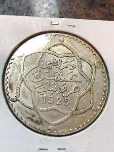 SASA Morocco 1911 (AH1329) Rial (10 Dirhems) LUSTROUS MS