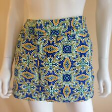 OLD NAVY Women's Blue Green & Yellow Skirt Size 8 New