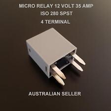 RELAY MICRO 12 VOLT 35 AMP 4 PIN ISO 280 SPST AUTOMOTIVE CAR TRUCK BUSSMANN AUTO