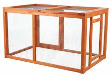 Chicken Coop Cage House Building Poultry Supplies Wood Frame Metal Mesh Fencing