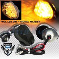 FULL LED SMOKED TURN SIGNAL INDICATOR LIGHT/SIDE MARKER BLINKER 98-06 NINJA ZX