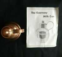 VINTAGE GUERNSEY COPPER CRAFT MILK CAN HANDMADE COPPER JUG ETCHED SIGNED PAMPLET