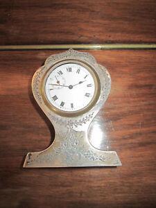 Joseph Gloster Ltd Solid Silver Balloon Mantel Clock 1911