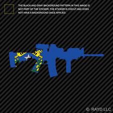 Nevada State Shape AR15 Sticker Decal AR-15 M16 M-16 NV