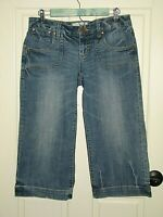 Maurices Womens Size 5/6 (31x20) Distressed Capri Jeans Light Stretch 121-16289