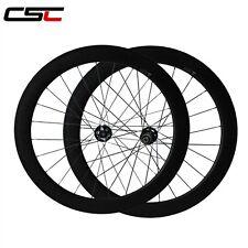 CSC 23mm width, Disc Brake hub 60mm Tubular carbon Cyclocross bicycle wheels