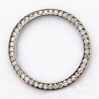 1pc Auto Car SUV Decorative Accessories Button Start Switch Silver Diamond Ring