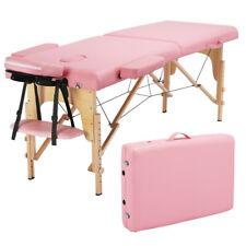 Foldable Massage Table Facial Spa Bed Adjustable Portable Foldable Salon 84'' Us
