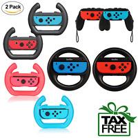 Mario Kart Steering Wheel for Nintendo Switch Joy-Con 2 Pack Grips Black