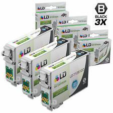 LD © Remanufactured Epson T126120 Set of 3 High Capacity Black Ink