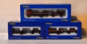 BT Models N Gauge Trucks and Trailers 1:148 Scale Model Rail Scenics