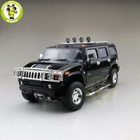 1/18 Greenlight Hummer H2 Highway 61 Diecast Model Car SUV Toys Boys Gifts Black