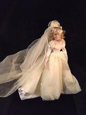 "Ashton Drake Finisning Touch Bridal WEDDING Bride Doll 20"" porcelain w COA"
