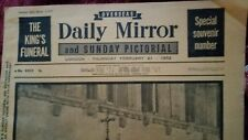 Overseas Daily Mirror and Sunday Pictorial 21st February 1952, Kings Funeral