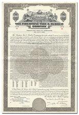 Firestone Tire & Rubber Company Bond Certificate
