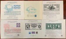 United States BEP B 28-32 Souvenir Cards 1974-75 Mint