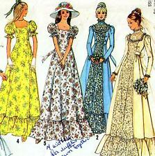 "Vintage 70s EVENING & WEDDING DRESS Sewing Pattern Bust 36"" Size 12 PROM Retro"