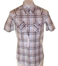 BNWT pour hommes AUTHENTIQUE Full Circle manche courte chemise à carreaux petit