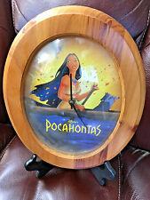 BS9 vintage Pocahontas Disney Disney's Collector Clock Beveled Glass