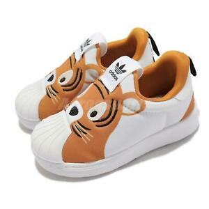 adidas Originals Superstar 360 I Tiger White Orange Toddler Slip On Shoes Q46176