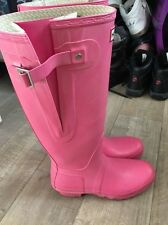 pink hunter wellies size 7