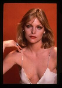 Michelle Pfeiffer Scarface low cut top cleavage Vintage Duplicate Transparency
