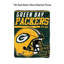 "NFL Green Bay Packers 40-Yard Dash Micro Raschel Throw Blanket 40"" x 60"""