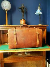 Vintage Gladstone Leather case / Doctors bag Circa 1920. Large. Double strap.