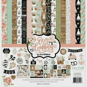 "Echo Park Double-Sided 12"" X 12"" Paper Collection Kit Our Wedding"