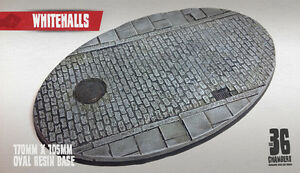 Whitehalls 1 x 170mm x 105mm oval resin cobblestone base