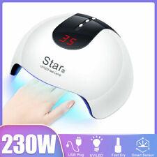 Secador De Unha Led 230W Lâmpada Gel Uv Unha Polonês rápido Sensor Temporizador de Luz de cura Salão