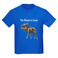 CafePress Moose Kids Dark T Shirt Kids Cotton T-shirt (542743311)